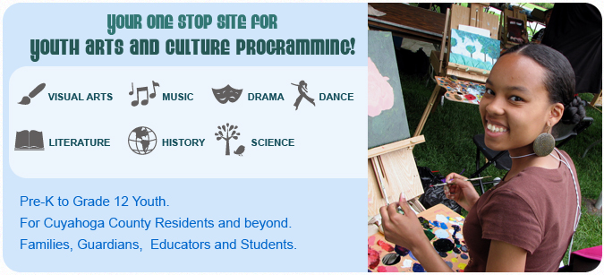 Your one stop site for youth arts and culture programming!